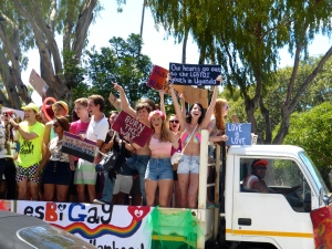 Cape Town Pride Festival--Stellenbosch University float